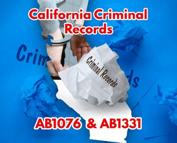 Eliminación de antecedentes penales de California