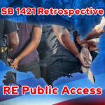 SB 1421 Retrospective pre January 1 2019 Argued RE Public Access